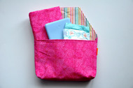 Pink Circles diaper to go bag