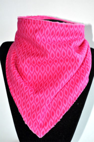 Patterned Pink with hot pink minky backing