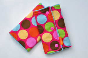 Big Colourful Dots baby carrier drool pads no tabs
