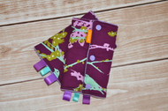 Purple Birds baby carrier drool pads