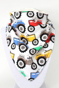 Tractors bandana bib with bamboo back