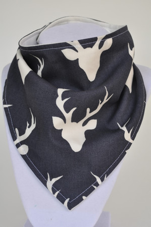 Buck in Twilight with bamboo back bandana bib
