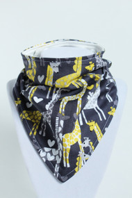 Giraffe Bandana bib with bamboo backing.