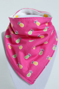 Pineapples bandana bib with bamboo back.