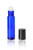 10ml [1/3 oz] Cobalt Blue Roll On Bottle With Color Cap