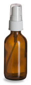1 oz [30 ml] Amber Boston Round Bottle With Plastic Spray Cap