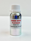 Amber White Platinum Concentrated Fragrance With Aluminum Bottle [4 fl. oz]