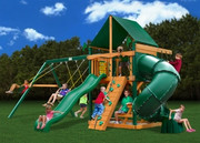 Gorilla Playsets Mountaineer Supreme - Canvas Forest Green Sunbrella