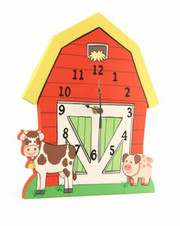 Teamson Design Kids Happy Farm Wooden Wall Clock