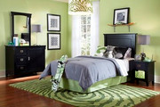 Powell Mission Black Bedroom Set
