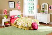 Powell White Bedroom Set