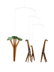 Flensted Mobiles Giraffes on the Savannah Mobile