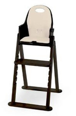 Scandinavian Child Baby-to-Booster Bentwood High Chair in Espresso