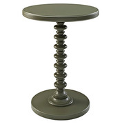 Powell Round Spindle Table - Grey