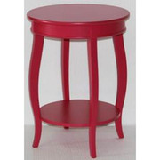 Powell Round Table with Shelf - Bubblegum