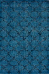 nuLOOM Rugs Colour Aqua Area Rug - Size 4 x 6