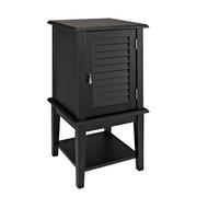 Powell Shutter Door Table - Black