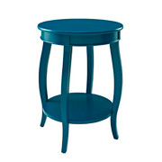 Powell Round Table with Shelf - Teal