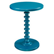 Powell Round Spindle Table - Teal