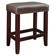 Powell Croc Faux Leather Counter Stool - Brown