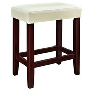 Powell Croc Faux Leather Counter Stool - White