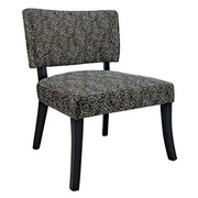 Powell Black Firework Armless Chair