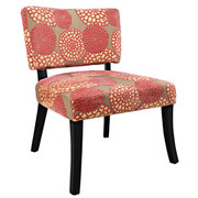 Powell Pink Flower Armless Chair