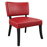 Powell Look Chair -  Red Leather