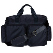 Trend Lab Black and Avocado Green Deluxe Duffle Diaper Bag