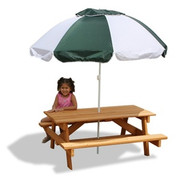 Gorilla Playsets Childrens Picnic Table and Umbrella