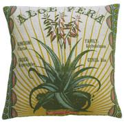 "Koko Company Botanica 20"" x 20"" Linen Pillow with Aloe Vera Print"