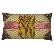 "Koko Company Botanica 15"" x 27"" Linen Pillow with Zea Mays Print"