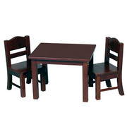 Guidecraft Doll Table and Chair Set - Espresso