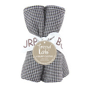 Trend Lab Black and White Gingham Seersucker Burp Cloth Set