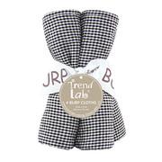Trend Lab Black and White Gingham Seersucker Burp Cloth Set