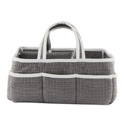 Trend Lab Black and White Gingham Seersucker Storage Caddy