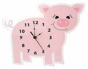 Trend Lab Baby Barnyard Wall Clock - Piglet