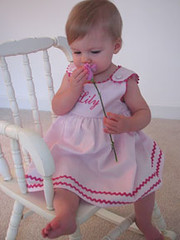Princess Linens Garden Princess Dress in Orchid with Camellia Trim