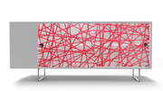 Spot on Square Alto Credenza - Red Strands