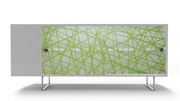 Spot on Square Alto Credenza - Green Strands
