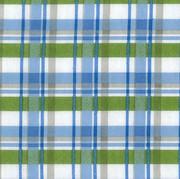 Trend Lab Blue Plaid Print Flannel Crib Sheet