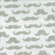 Trend Lab Mustache Print Flannel Crib Sheet