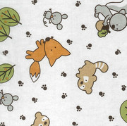 Trend Lab Forest Animal Print Flannel Crib Sheet