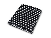 Olli and Lime Cross Crib Sheet - Black