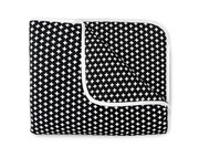 Olli and Lime Cross Crib Quilt - Black