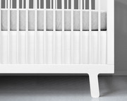 Olli and Lime Crib Skirt - White