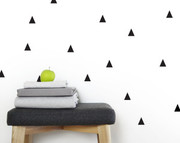 Olli and Lime Triangle Wall Decals - Black