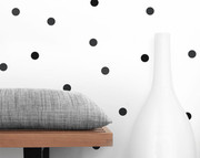 Olli and Lime Dots Wall Decals - Black