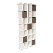 Sprout Kids 21 Cubby Tall Bookcase - White