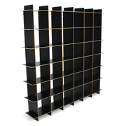 Sprout Kids 36 Cubby Large Bookshelf - Black